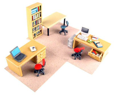 tmp eureka miniatures making office furniture in 28mm