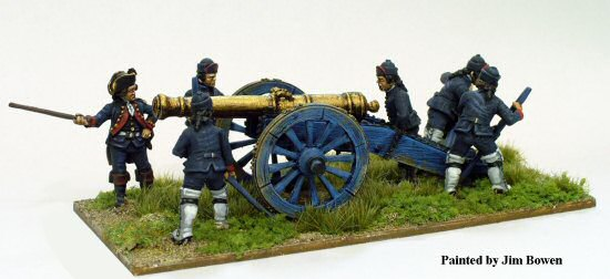 AW 157 - French artillery in fatigues laying 24 pdr siege gun