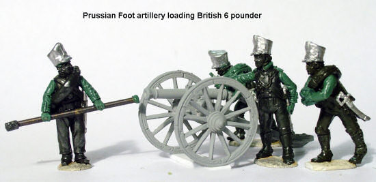 Prussian foot artillery loading British 6-pounder