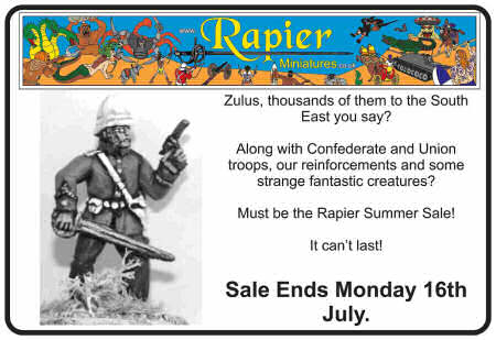Rapier Miniatures sale