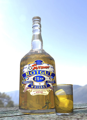 Gutshot Rotgut: Smoother than kerosene!