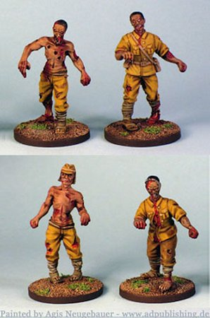 28mm WWII Japanese Zombies
