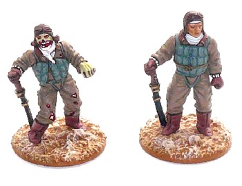 28mm Japanese Fighter Pilot and Zombie