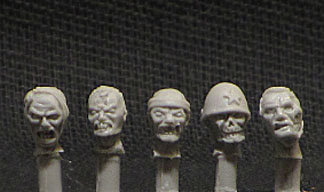 28mm Japanese Zombie Heads