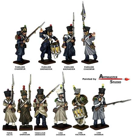 Middle Guard painted figures
