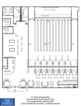 Tmp Modern Floorplans An Average Modern Bowling Alley
