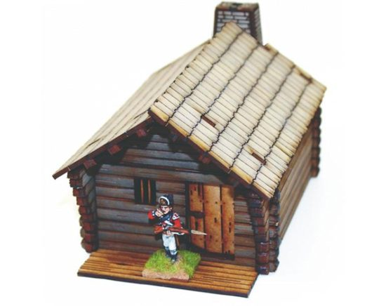 Pioneer's Log Timber Cabin