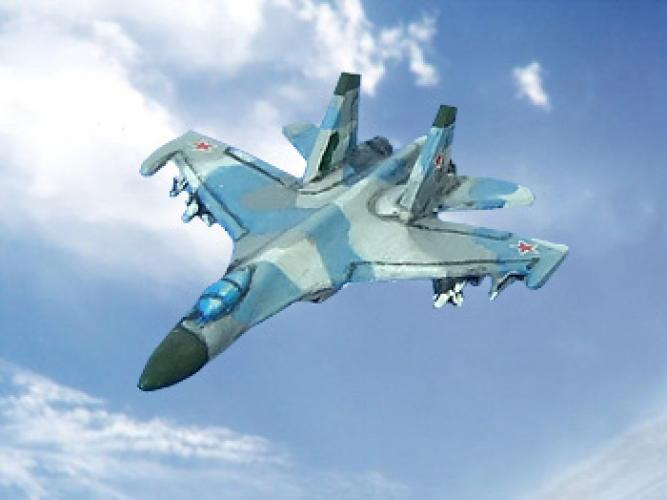 Su-27 Flanker (6 pcs) – twin-engine air superiority jet fighter