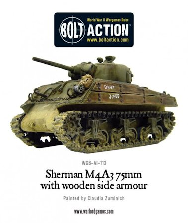Sherman with wooden armor