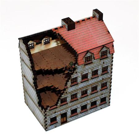 15mm WWII building