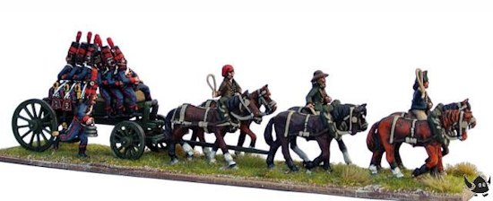 French Horse Artillery limber and riders