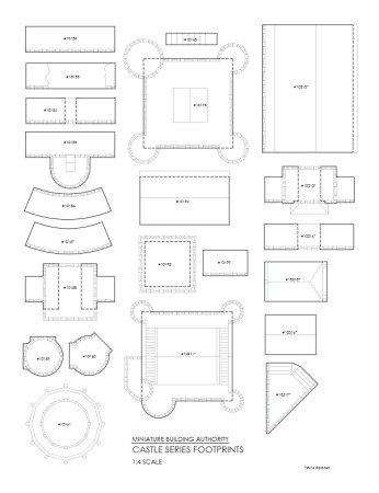Tmp miniature building authority 14 scale footprint template of for more information on our castle kickstarter you can either go to our kickstarter page or like and follow us on facebook as we get closer to march maxwellsz