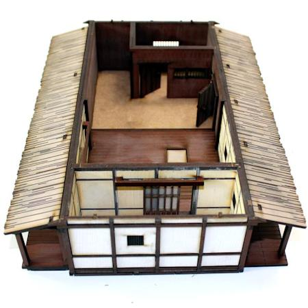 4ground Medieval Japanese Village Elder S House Mdf Kit