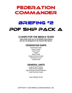 Federation Commander: Briefing #2 Ship Pack A