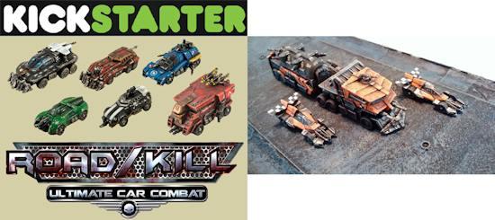 tmp kickstarter announced for car combat game miniatures