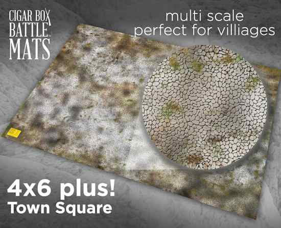4x6 plus Town Square Mat