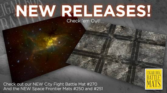 Tmp new sci fi modern mats from cigar box battle mats for Outer space urban design