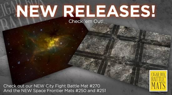 Tmp new sci fi modern mats from cigar box battle mats for Outer space urban design