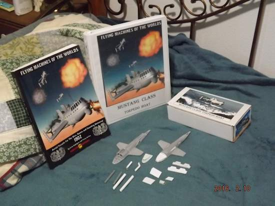One of our rewards, a 1:100 scale model of U.S.S. Mustang