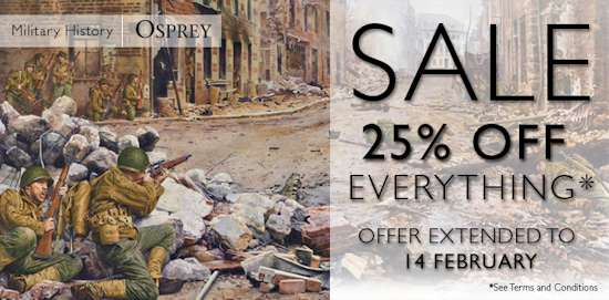 25% Off All Osprey Military & Adventures Books