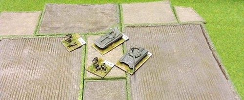 Various Fields with 10mm Cold War Vehicles and Figures