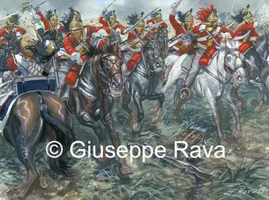 The charge of the Dragoons Guard at Waterloo
