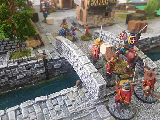 The Cardinal's Guard storms the bridge