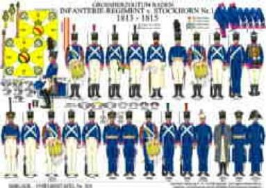 Grand Duchy of Baden: Infantry Regiment von Stockhorn No.1 – 1813 – 1815