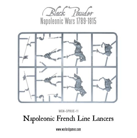 Napoleonic French Line Lancer sprue