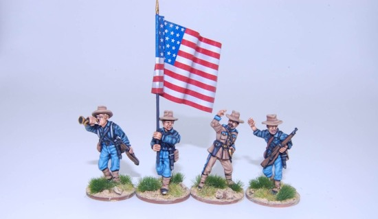 Federal Infantry command group