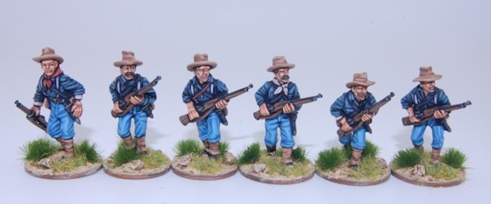 Federal Infantry advancing
