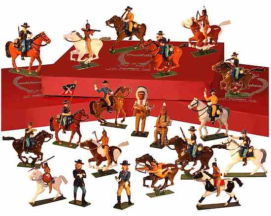 American Indian Wars - Toy Soldiers Painted in Gloss Size 54mm New! Toy set 1207 – 7th Cavalry Regiment