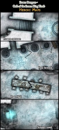 Heroic Maps – Modular Kit: Frozen Dungeon Oath of the Frozen King Tomb