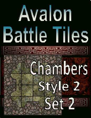 Avalon Battle Tiles, Dungeon Chambers, Set 2 Style 2