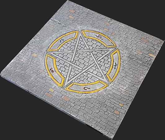 Arcane Pentagram on Medieval Theme open space tile