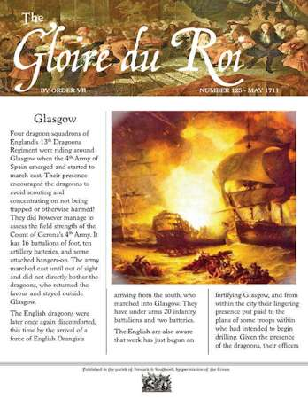 Glory of Kings May 1711 – 18th Century Wargames Campaign Newspaper