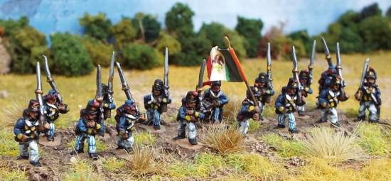Mexican Line Infantry Marching