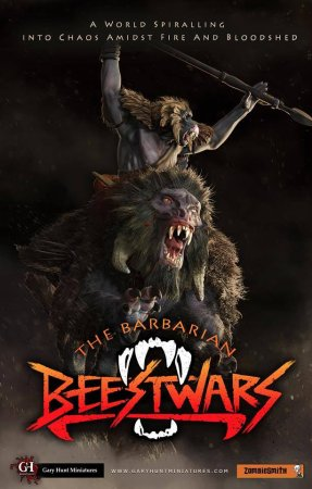 The Barbarian Beestwars, front cover, new logo