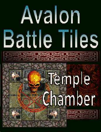 Avalon Battle Tiles: Temple Chambers
