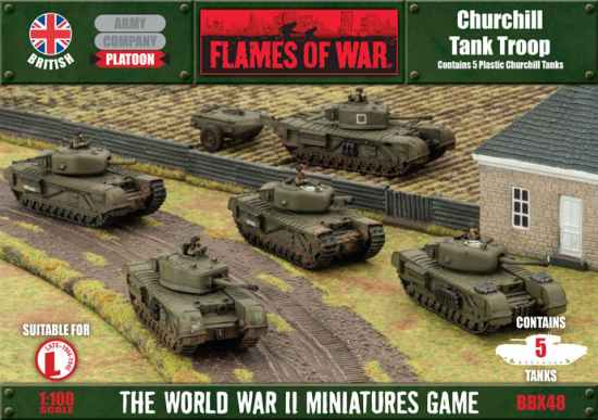 New Plastic Churchill for Flames of War