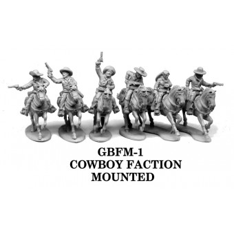 Mounted Cowboy Faction: 28mm-32mm Figures