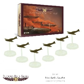 Blood Red Skies: 1:200th Scale British Spitfire 6-Plane Squadron plus Spitfire Ace – Sailor Malan