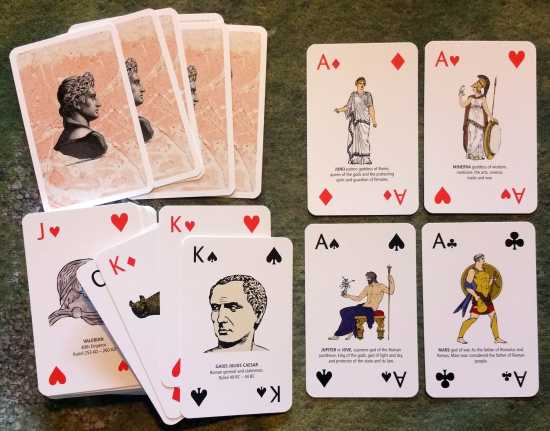 Roman playing cards