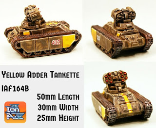 Yellow Adder Combat Tankette