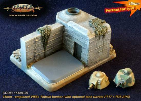 New from Baueda: 15mm Tobruk Bunker Objective!