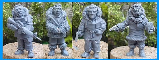 Classic Movie Miniatures Episode 3: Whiteout - Ice Station characters