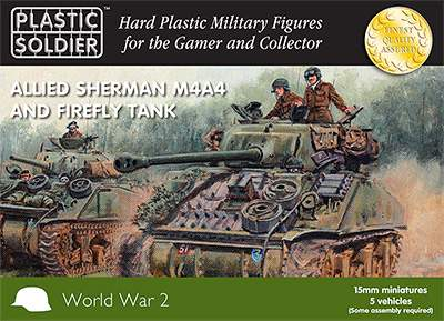 Allied Sherman M4A4 and Firefly Tank