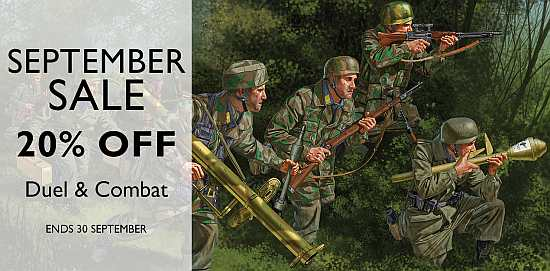 September Sale – 20% off Duel and Combat Series