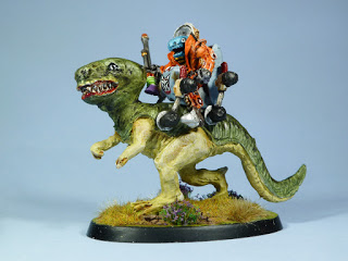 Giant Lizard with Saurian Rider