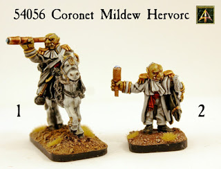Coronet Mildew Hervorc, foot and mounted